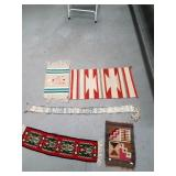 Lot of 5: assorted pieces of Navajo style woven ru