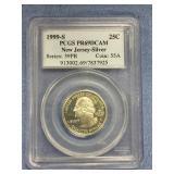 1990 S New Jersey silver quarter PR69 Deep cameo b