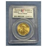2008 D Sacagawea dollar coin MS68 by PCGS
