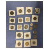 Large bag lot of misc. foreign coins: Germany, Can