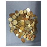 Large bag lot of misc. foreign coins: Denmark, Fra