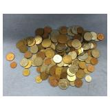 Large bag lot of misc. foreign coins:  Malaysia, Y