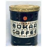 "Antique coffee tin 6"" tall        (M 456)"