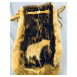 """Fabulous seal skin drawstring bag, 11.5"""" long"""