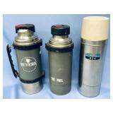 Lot of 3 large heavy duty thermoses     (700)