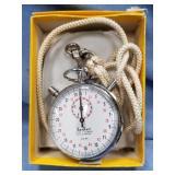 Vintage 7 jewel stop watch, by Hanart with 1/10 se