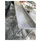 Stainless steel table, approx. 129 x 29 x 40