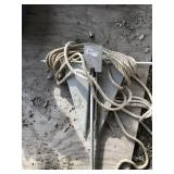 Marine anchor with rope approx. 12 x 19     (O 28)