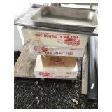 4 boxes with tall pack salmon cans & trays