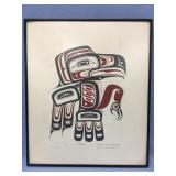 Harry Choquette signed and numbered framed Tlingit