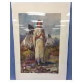 """Shrink wrapped print """"Two Dolls"""" unsigned,  23.5"""""""