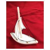 """Sailing boat, 4.5"""" tall x 3.5"""" long single masted"""