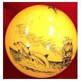 Cue ball, scrimshawed, by Frank P.           (3)
