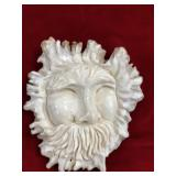 """Relief carved elk button 4"""" long x 3"""" wide of a tr"""