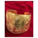 Tlingit gold bracelet by PAS, cuff bracelet, not h