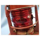 "Dietz brand Railroad Lantern, about 8"" tall      ("