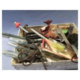 Box with fishing lures, etc.              (O 28)