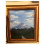 Michael Scott framed original oil painting of Mt.