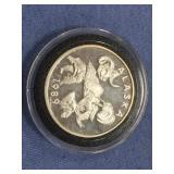 1989 1 oz. silver round from Alaska Mint
