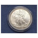 2001 silver Eagle dollar unc.          (33)