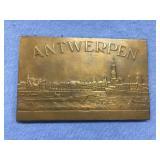 Beautiful brass plaque 1958 Besting Festival, Antw