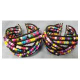 Lot of 2: beaded cuff bracelets           (T 1)