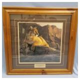 """Double matted and framed print, by Daniel Smith, """""""