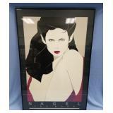 Framed serigraphs by Patrick Nagle, frame size is