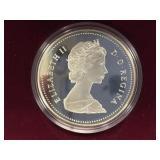 1988 Canadian silver dollar coin          (33)