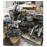 Large lot with aluminum and vehicle parts and wood