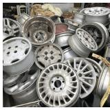 Huge lot with different size wheels, some are comp