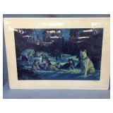 """Fred Machetanz signed and numbered print """"Moonlit"""