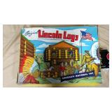 Lincoln logs set #4LF with figurines in box. *