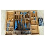 Wooden Handy Man Tool Box with tools Set (*)