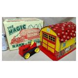 Marx Magic Barn & Plastic Tractor