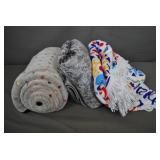 3 Assorted Blankets - New
