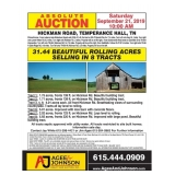8 Tract Auction Hickman Rd Temperance Hall