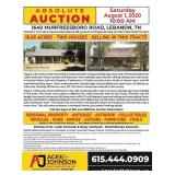 Absolute Auction 1640 Murfreesboro Rd