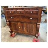 19TH CENTURY FLAME FRONT EMPIRE JELLY CUPBOARD