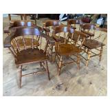 SET OF 6 QUALITY PINE BARREL BACK CHAIRS