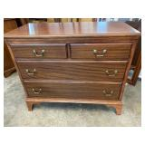 SOLID MAHOGANY 4 DRAWER CHEST