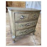 4 DRAWER PAINT DECORATED CHEST