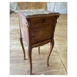 MARBLE TOP FRENCH TALL COMODE