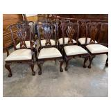 MAITLAND- SMITH SET OF 8 CHIPPENDALE CHAIRS