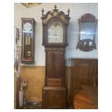 19TH CENTURY MAHOGANY ENGLISH TALL CASE CLOCK