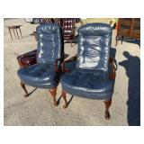 PR OF LEATHER ARM CHAIRS