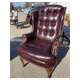 CHARLES HARLAND LEATHER TUFTED CHAIR