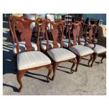 SET OF 8 MASTER DESIGN QUEEN ANNE CHAIRS