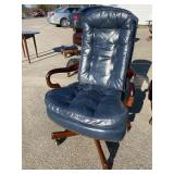 LEATHER OFFICE CHAIR BY ST. TIMOTHY OF HICKORY
