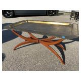 LARGE BRASS TRAY FOLDING TABLE